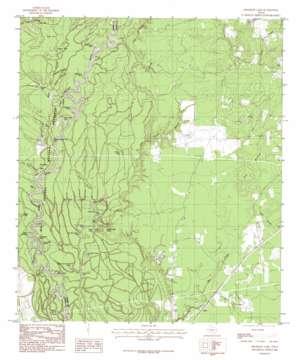 Franklin Lake topo map