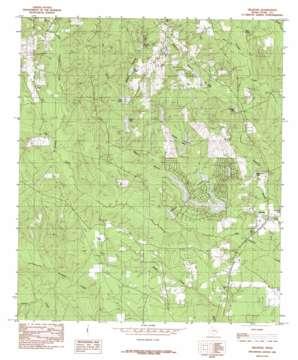 Hillister topo map