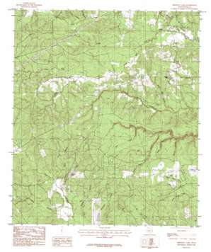 Birdwell Lake topo map