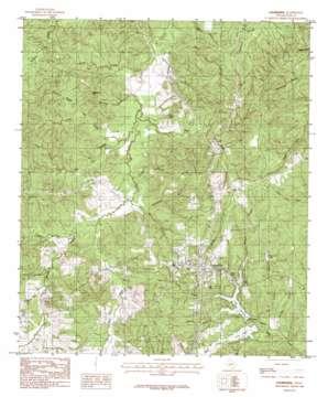 Colmesneil topo map