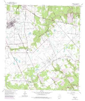 Tomball topo map