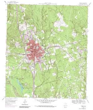 Conroe topo map