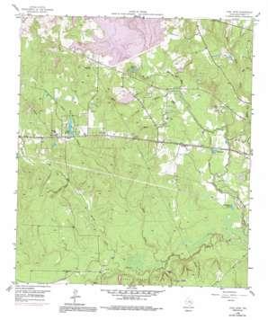 Cowl Spur topo map