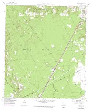 Westcott topo map