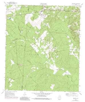 Oakhurst topo map