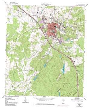 Huntsville topo map