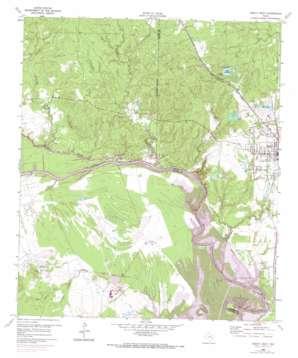 Trinity West topo map