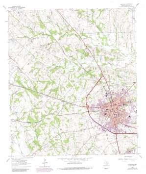 Brenham topo map