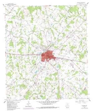 Giddings topo map