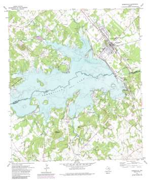 Somerville topo map