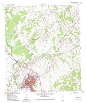 Navasota topo map