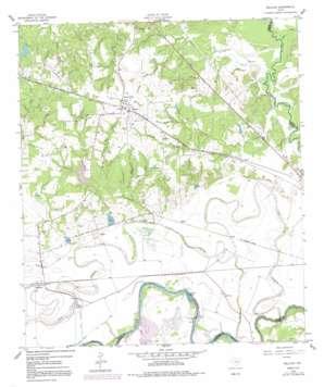 Millican topo map