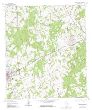 Rockdale East topo map