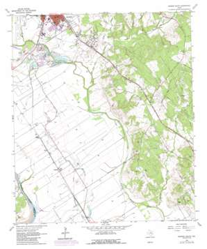 Hearne South topo map