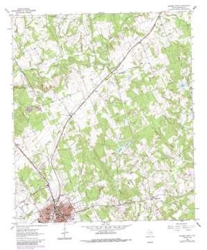 Hearne North topo map