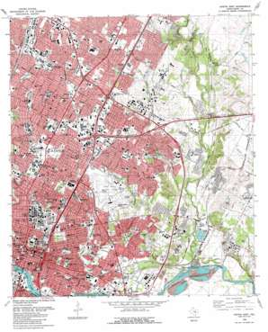 Austin East topo map