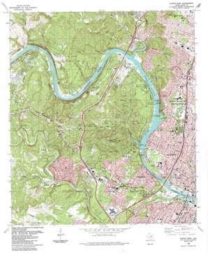 Austin West topo map