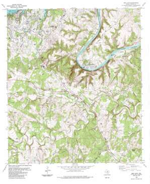Bee Cave topo map