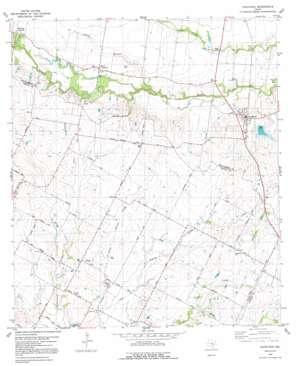 Coupland topo map