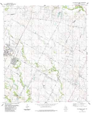 Pflugerville East topo map