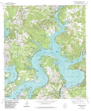 Mansfield Dam topo map