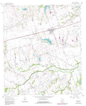 Thrall topo map