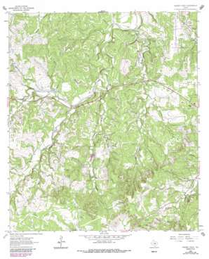 Yeager Creek topo map