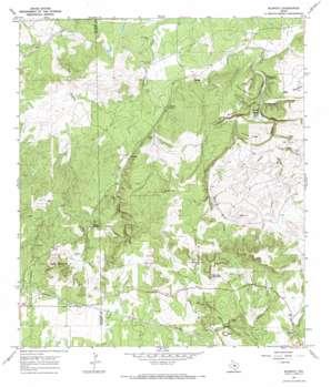 Blowout topo map