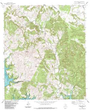 Travis Peak topo map