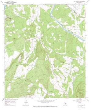 Cap Mountain topo map