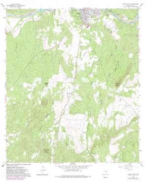 Llano South topo map