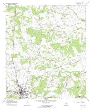 Burnet topo map