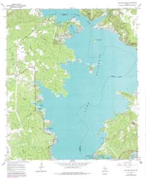 Lake Buchanan topo map