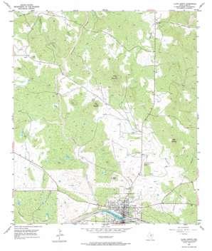 Llano North topo map