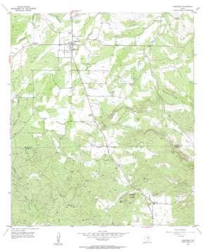 Cherokee topo map