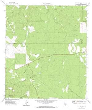 Earwood Creek topo map