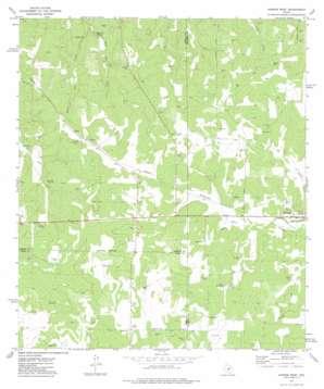 Harper West topo map