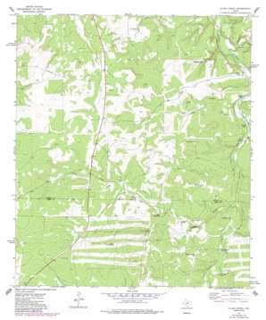 Allen Creek topo map
