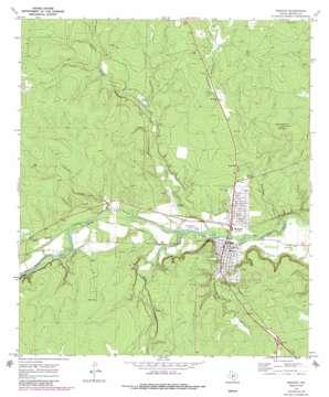 Menard topo map