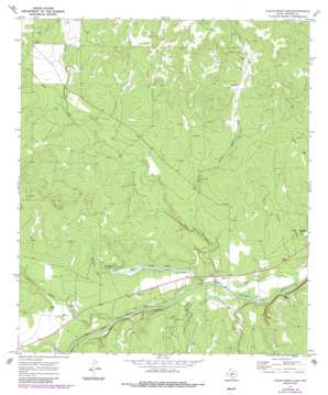 Clear Creek Lake topo map