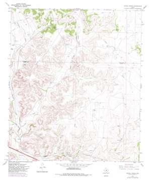 Savell Ranch topo map