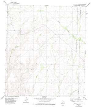 Sevenmile Canyon topo map