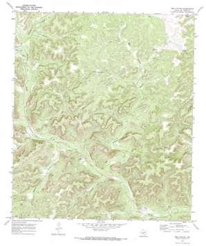 Bee Canyon topo map