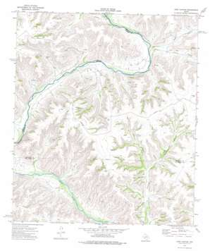 Post Canyon topo map