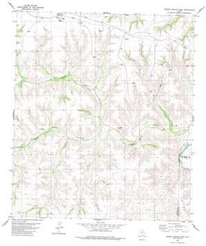 Geddis Canyon East topo map
