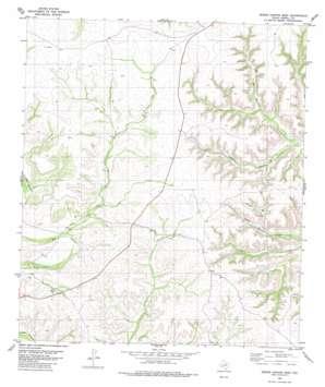 Geddis Canyon West topo map