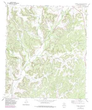 Harrell Canyon USGS topographic map 30101d2