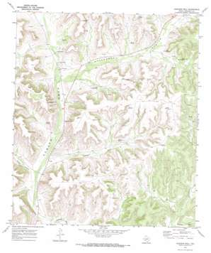 Howards Well topo map