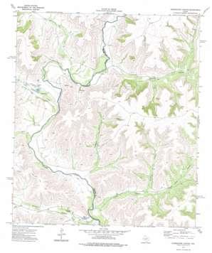 Sixshooter Canyon topo map