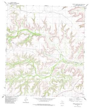 Geddis Canyon Nw topo map